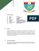 Informe técnico pedagógico - ÁLGEBRA.