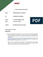 CIR 001 DIRECCIÓN DE CURSO