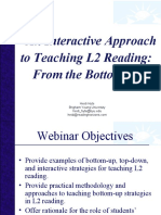An Interactive Approach to Teaching L2 Reading -From the Bottom Up