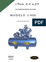 Itsa Listado de Partes Compresor I-800