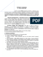 Contractul încheiat între Cornel Ban și Consiliul Județean Bistrița, pus la dispoziție de profesor