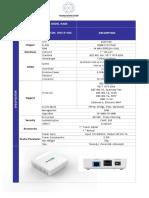 Datasheet-GCOM-ONU-E100G-EPON