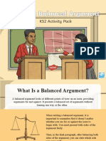 Writing a Balanced Argument Powerpoint.ppt