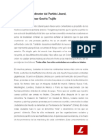 130920 Comunicado Director Partido Liberal Frente a La Protesta Ciudadana