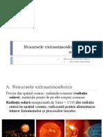 Resursele extraatmosferice și ale atmosferei (1)