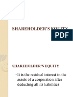 Ch10&11. Shareholders' Equity