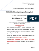 Format of Final Research Paper
