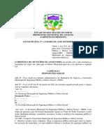 LEI MUNICIPAL N 1172-2020 - Criação Da Secretaria de Segurança Pública e Defesa Social Do Município de Angicos RN (SSDS) e a Guarda Civil Municipal de Angicos RN (GCMA)