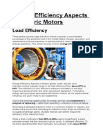 Energy efficient Motor aspects