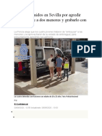 Cuatro detenidos en Sevilla por agredir sexualmente a dos menores