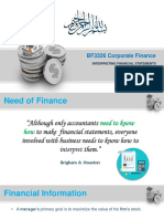 BF3326 Corporate Finance Lecture 2