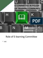 Prezentacja Komisji ds. E-learning PIFS - Salamanka 2011