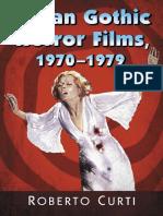 Italian Gothic Horror Films (1970-1979)