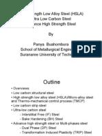 High Strength Low Alloy Steel (HSLA)