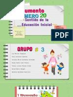 Documento 20 El Sentido de la Educación Inicial