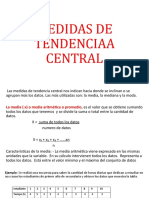 MEDIDAS TENDENCIA CENTRAL PRIMERO