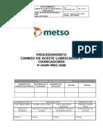 P-DGM-MEC-008.Proc. cambio de aceite lubricador a chancador
