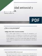4.3 Personalidad antisocial y psicopatía