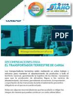Med Prev COVID19 Servicio Transporte Carga