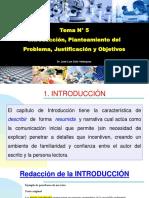 Tema 5 - Introducción, Problema, Justificación y Objetivo