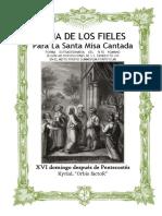 XVI Domingo Después de Pentecostes. Guía de los fieles para la santa misa cantada. Kyrial Orbis Factor