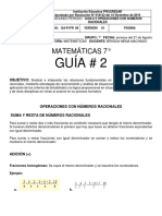 GUÍA # 2 MATE 7°
