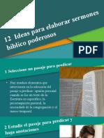 02 - 12 Ideas para Elaborar Sermones