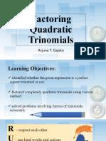 Factoring Quadratic Trinomial