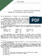 Essai sur la structure de la mixis platonicienne Être et Non-Être chez Platon