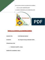 TRABAJO DE LA CUENTA y la PARTIDA DOBLE