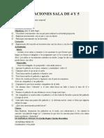 PLANIFICACIONES SALA DE 4 Y 5