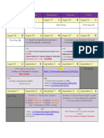 precal unit 1 calendar