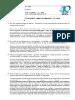 Estudo dirigido Desenvolvimento Humano II