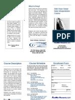 side scan course description
