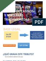 impuesto a los juegos de casino y maquinas tragamonedas