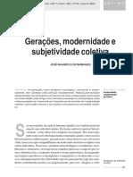 Gerações, modernidade e subjetividade coletiva - Jo´se Maurício Domingues.pdf