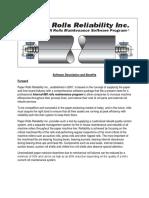 Paper Rolls Reliability Inc Software Description and Benefits