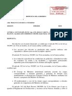 Respuesta de Defensa a los diputados del PP.