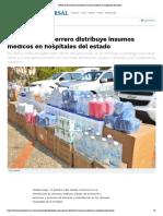 17-07-2020 Gobierno de Guerrero distribuye insumos médicos en hospitales del estado.
