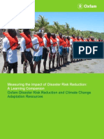 oxfam measuring the impact of disaster risk reduction learning companion