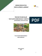 Proyecto Escolar 2020  de   1ero _2do y 3ero