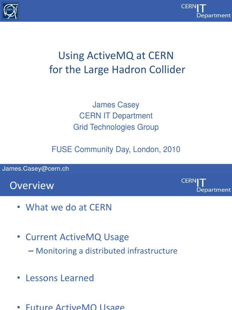 3-CERN-ActiveMQ | Large Hadron Collider | Atlas Experiment