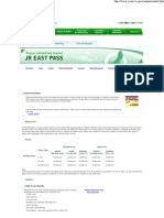 JR East Pass  Fares & Pass..