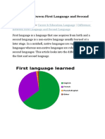Difference Between First Language and Second Language