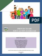 PROYECTO DE EDUCACION FAMILIAR 2019