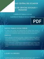 Presentación de Maestria en Trabajo Social Forense