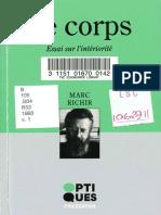 RICHIR, Marc. 1993. Le corps. Essai sur l'intériorité.pdf