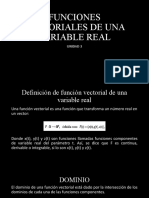 FUNCIONES VECTORIALES DOMINIO u3