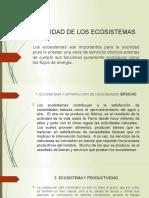 UTILIDAD DE LOS ECOSISTEMAS