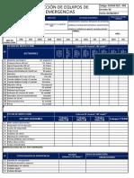 9.-   SSOMA REG - 009 - REGISTRO DE EQUIPOS DE EMERGENCIAS